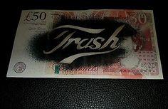 Dotmasters Trash n' Cash Show Flyer Rare Modern stencil technique £50 cut up.