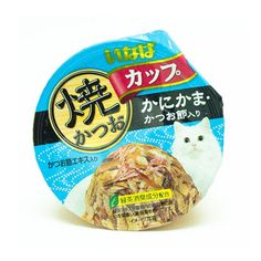 INABA Wet Cat Food Grilled Bonito Cup with Crab Surimi and Dried Bonito (80 g. x 4 pcs.) ** Want additional info? Click on the image. (This is an affiliate link) #CatTreats