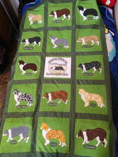 Border collie quilt