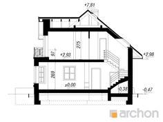 Projekt domu Dom w rukoli - ARCHON+ Beautiful House Plans, Beautiful Homes, Floor Plans, How To Plan, House Of Beauty, Floor Plan Drawing, House Floor Plans