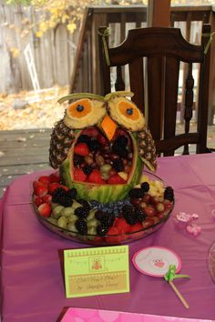 Baby Shower Owl Themed: Owl made by my stepdad Ronnie, amazing!