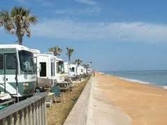 The Beverly Beach RV Camptown Resort in Flagler Beach is a beachfront spot to park your RV in Palm Coast, Florida.
