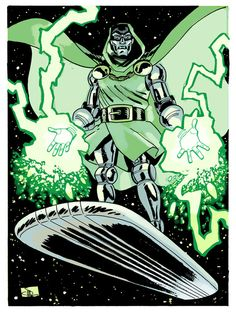 Doctor Doom by Evan Shaner - Universo Marvel Comic Book Artists, Comic Book Characters, Marvel Characters, Comic Books Art, Comic Art, Dr Doom Marvel, Marvel Comics Art, Marvel Heroes, Comic Superheroes