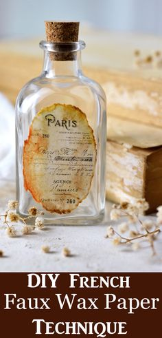 This DIY Craft Technique Tutorial will show you how to turn paper into something that looks like Antique French Wax Paper Labels! Free Printable is included. By Dreams Factory for Graphics Fairy. Diy Craft Projects, Craft Tutorials, Fun Crafts, Paper Crafts, Diy And Crafts, Decoupage Vintage, Vintage Crafts, Wax Paper, Antique Wax