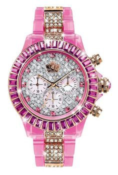 rolex. I wouldn't wear this but it's pretty sweet looking & well it's pink ;)