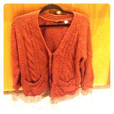Old man style sweater Urban outfitters orange/brownish cozy men's style sweater Urban Outfitters Sweaters
