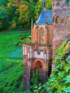 Castle Rheinstein Germany photo via ekaterina..... Here you relax with these backyard landscaping ideas and landscape design. #Relax more with this #free #music with #BinauralBeats that can #heal you: #landscaping #LandscapingIdeas #landscapeDesign