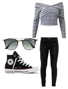 """Women fashion"" by muhamed-hodzic ❤ liked on Polyvore featuring Ted Baker, Ray-Ban and Converse"