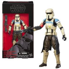 Hasbro Year 2016 Star Wars The Black Series Rogue One 6 Inch Tall Figure - #28 SCARIF STORMTROOPER SQUAD LEADER with Blaster Rifle