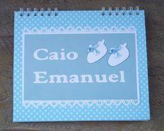 lista de Chá de Bebê encadernada.  www.elo7.com.br/amornopapel/caderno-de-mensagens/al/56F49 www.amornopapel.com