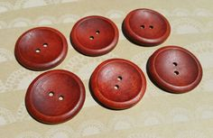 Large Wood Buttons  Big Wooden Button  Bulk by LittleRedCottage
