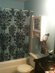 Blue And Brown Bathroom Makeover For Under 50 00