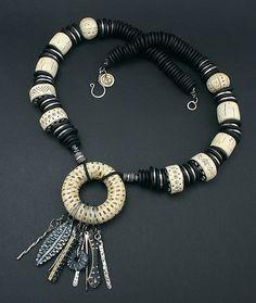 Carved Primitive Necklace by DorothySiemens, via Flickr