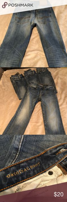 c3e35f6df2ff2 American Eagle extreme flex original bootcut jeans Excellent condition! Son  outgrew them in 3 months