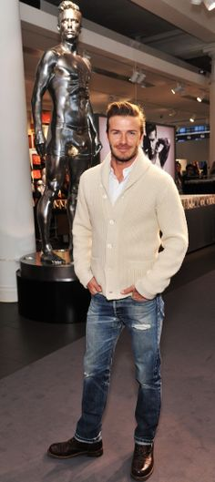David Beckham #winterstyle