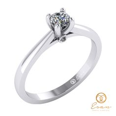 Inel de logodna din aur cu diamant ES29 Aur, Engagement Rings, Jewelry, Fashion, Enagement Rings, Moda, Wedding Rings, Jewlery, Bijoux