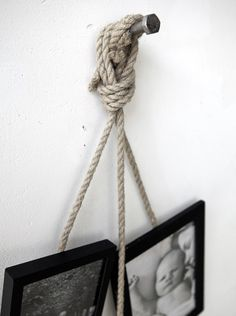 Love this idea for hanging photos!