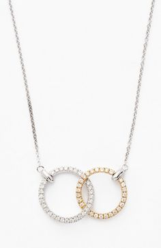 Bony Levy Double Diamond Circle Pendant Necklace (Nordstrom Exclusive) available at Diamond Initial Necklace, Circle Pendant Necklace, Diamond Solitaire Necklace, Letter Necklace, Leaf Necklace, Dainty Necklace, Leaf Jewelry, Fashion Necklace, Nordstrom