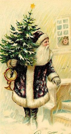 .Rare Santa with purple coat