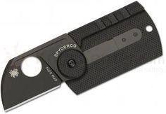 Spyderco C188CFBBKP Serge Panchenko Dog Tag Folder 1.22 inch S30V Chisel Ground Blade, Carbon Fiber and G10 Handles