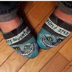 Custom Cheshire Cat Toms painted by me :)
