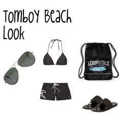 """Tomboy Beach Look"" by jackiesamuelson on Polyvore"