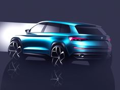 Skoda VisionS Concept - Design Sketch