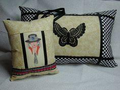 FARONELL DESIGN: Handmade Pillow Art Set by DesertMoonQuiltCo