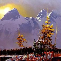 "TWILIGHT TANTALUS by Michael O'Toole Acrylic ~ 36"" x 36"""
