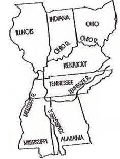 Follow the Drinking Gourd--map on free states and slave