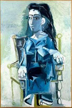 Picasso, portrait of Jacqueline