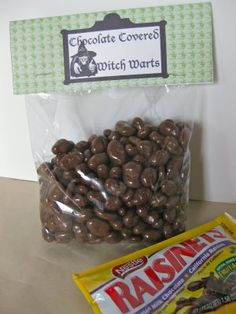 CAN'T STOP MAKING THINGS: Free download for Chocolate covered raisens labeled as:Chocolate Covered Witch Warts. Can make diff. labels for jars, bags and tags for bottles.