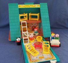 Still have a ton of my old Fisher Price Little People playsets, including the A-Frame House.