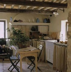 Rustic French Country Cottage Kitchen 61