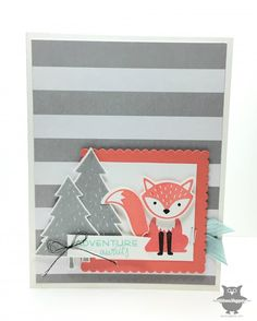 Isn't this card adorable?  LOVE the new Foxy Friends stamp set from Stampin' Up!