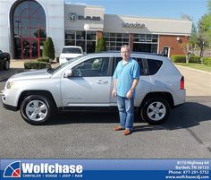 Wolfchase Chrysler Jeep would like to say Congratulations to Peter Lindy on the 2014 Jeep Compass