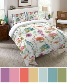Swap those winter blues for spring hues! Laural Home's Rainbow Seeds duvet and shams will instantly freshen up your bedroom. 20% off florals!