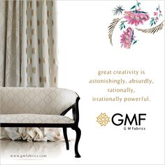 Decorate your #Home with #Elegant #Fabrics that brings an majestic aura into any space. #GMF #GMFabrics #Furnishings #Decor #HomeDecor