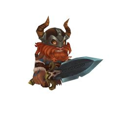 Character - Mini Viking Eric - Low Poly 3D Model