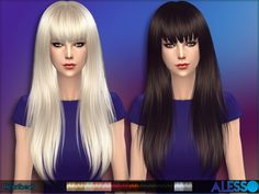 Long hair with fringe for females  Found in TSR Category 'Sims 4 Female Hairstyles'