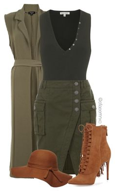 """Khaki style"" by efiaeemnxo ❤ liked on Polyvore featuring Torn by Ronny Kobo, Balmain, Dorothy Perkins and Alexandre Birman"