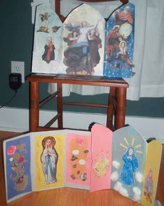 Feast of the Assumption - triptych craft... looks really good! :)