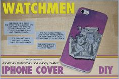 DIY Watchman phone cover tutorial Phone Cover, Iphone, How To Make, Diy, Build Your Own, Bricolage, Do It Yourself, Diys