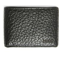 HUGO | Black Textured Leather Wallet |  Lyst