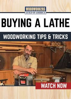 Master woodworker George Vondriska provides tips on how to buy the right lathe for your woodworking projects. A WoodWorkers Guild of America original video.