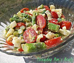 ~Asparagus Salad~ A light, fresh salad perfect for summer. (NO mayo)