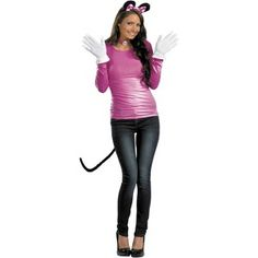 Disney Pink Minnie Mouse Accessory Kit (Adult) This mouse will rock the house! The Pink Minnie Mouse Accessory Kit (Adult) includes: A pair of mouse ears with attached polkadot Great Halloween Costumes, Funny Costumes, Easy Costumes, Adult Costumes, Adult Halloween, Halloween Ideas, Costume Ideas, Disney Costumes, Maternity Halloween