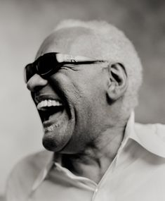 Ray Charles by Jimmy & Dena Katz … New York City … 2000 … Ray Charles Robinson known professionally as Ray Charles, American, singer/songwriter/musician/composer, pioneered the genre of 'soul music' during the … Music Icon, Soul Music, Music Is Life, My Music, Music Beats, Indie Music, Music Lyrics, Ray Charles, King Charles