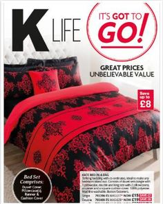 Valentine's Day Duvet Set from K-Life Magazine great idea for bedroom decorating designs Bed In A Bag, Life Magazine, Duvet Sets, King Size, Duvet Covers, Comforters, Pillow Cases, To Go, Bedroom Decor