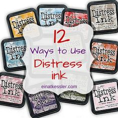 12 Ways to Use Distress Inks (scrappin' it)